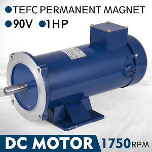 Dc Motor 1 0hp 56c Frame 90v 1750rpm Tefc Magnet Durable 10 0a Permanent Usa