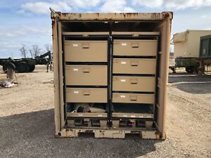 Storage Container With 4 Storage Compartments Contractor Or Commercial Military
