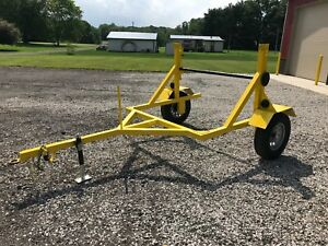 New Hdpe Conduit Cable Reel Pipe Trailer