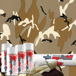 Hydro Dipping Hydrographics Printing Film Designer Dip Kit Tan Fabric Camo Mc211