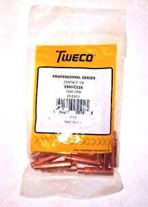 Tweco 15hfc 116 Contact Tip 1 16 Heavy Duty Fluxcored pk Of 25