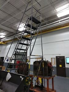 14 Step Steel Easy Turn Rolling Ladder