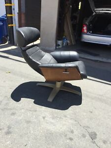 Vintage Scoop Chair Mid Century Modern Herman Miller Plywood Plycraft Leather