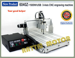 Usb 6040 1500w 3 Axis Cnc Router Engraver Engraving Milling Drilling Machine Kit