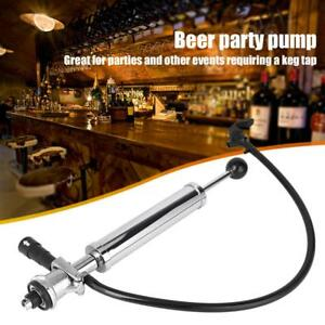 8 Inch Heavy Duty Party Picnic Beer Pump Draft Beer Keg Tap Chrome Pump Hot