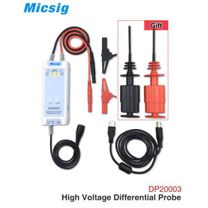 Micsig Dp20003 Oscilloscope 5600v 100mhz High Voltage Differential Probe Kit New