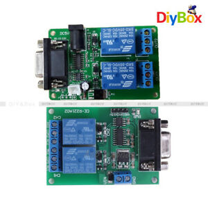 Dc 5v 12v 2 Channel Serial Port Rs232 Relay Module Db9 Interface Pc Relay