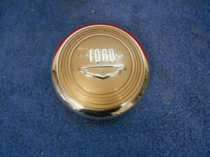 1949 50 Ford Steering Wheel Horn Button With Emblem Nos Nice 618