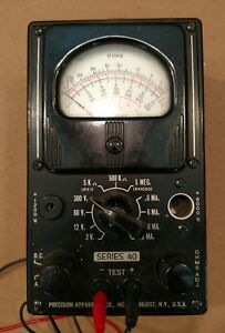 Vtg Precision Apparatus Co Multi Meter Series 40 3229 Tested