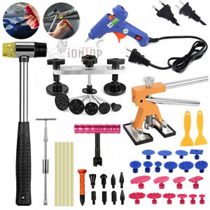 Car Auto Body Paintless Dent Diy Repair Removal Glue Gun Tool Puller Lifter Kit