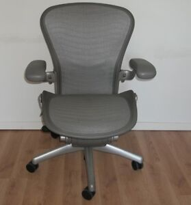 Herman Miller Size B Medium Aeron Office Chair Graphite Gray
