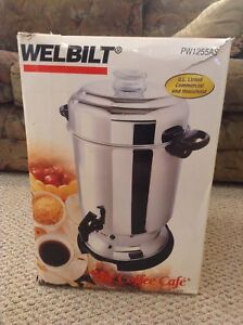 Welbilt Commercial Coffee Cafe Stainless Steel 60 Cup Coffee Urn Maker