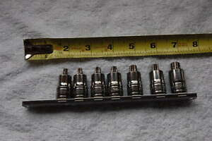 Snap On 207eftxyse 7 Piece Stubby Torx Socket Driver Set 3 8 Drive T27 55 New
