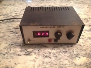 Digital Read Out Capacitance Meter Powers On No Probes Free Shipping