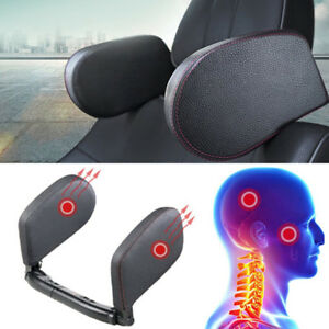 Universal Car Seat Headrest Head Neck Support Pillow Shoulder Cushion Pad Black
