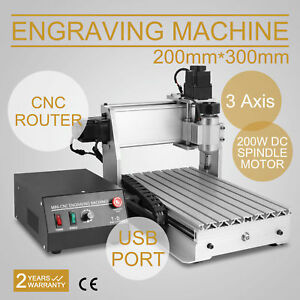 Top 3 Axis Cnc Router Engraver 3d Engraving Drilling Milling Machine 300w 3020