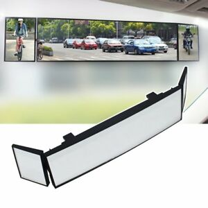Car Three Folds Curved Surface Rear View Mirror Wide Angle Rearview Mirror New