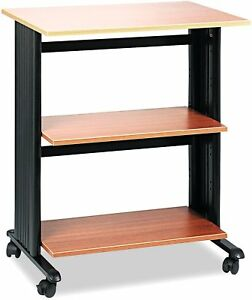 Safco Products 1881mo Muv Three Level Adjustable Shelf Printer Machine Stand