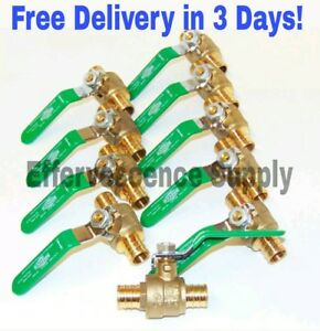 10 1 Pex Ball Valve Full Port Lead Free Brass Free Delivery In 3 Days