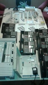 Nortel Networks Norstar Compact Ics Phone System Voice Mail 8 Phones Cables
