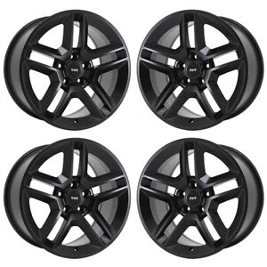 18 Ford Mustang Shelby Gt500 Black Wheels Rims Factory Oem Set 4 3811