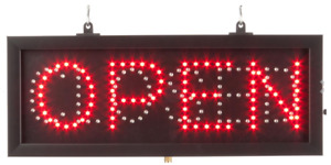 Animated Hanging Led Retail Store Open closed Sign