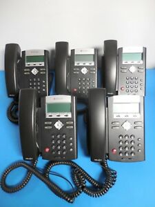 Polycom Ip 335 Business Phones With Handsets Stands 2201 12375 001 Lot Of 5
