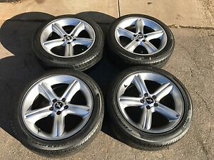 Set Of 4 Used 19 19x8 5 Ford Mustang Wheels Rims And 245 45 19 Pirelli Tires