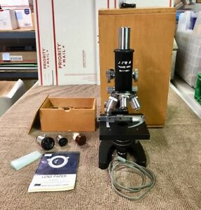Vintage Unitron Phase Mph Stg Microscope With Accessories 111851