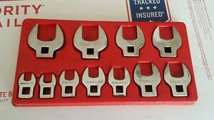 Snap On 11 Pc 3 8 Drive Sae Open End Crowfoot Wrench