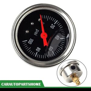 New Universal Black Adjustable Fuel Pressure Regulator Gauge With 0 100 Psi