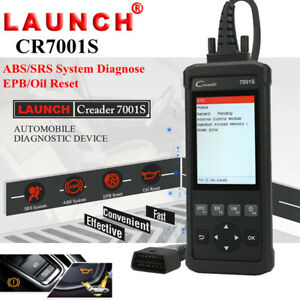 Launch Cr7001s Abs Srs Epb Reset Obd2 Code Reader Diagnostic Tool Scanner Crp123