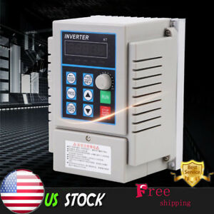 220v 0 75kw Single Phase 3ph Variable Frequency Drive Vfd Speed Controller