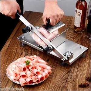 St208b Manual Stainless Steel Frozen Meat Slicer Beef Slicing Machine