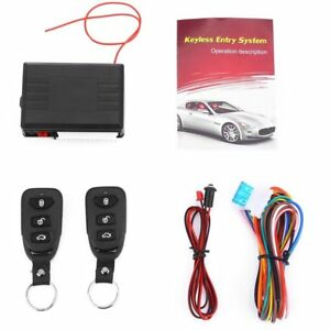 Auto Car Remote Central Kit Control Door Lock Locking Keyless Entry System Dt Pc