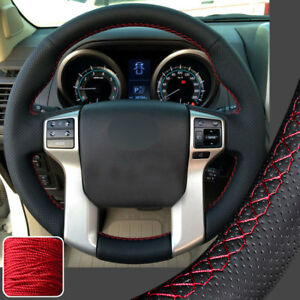 Diy Stitching Real Leather Steering Wheel Cover For Toyota Tacoma Tundra 4runner