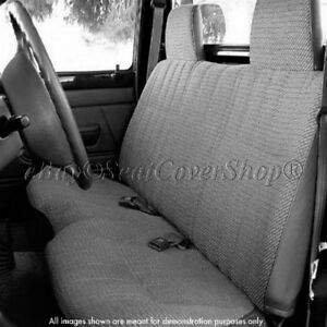 Triple Stitched Thick Small Pickup Truck Bench Charcoal Gray Seat Cover
