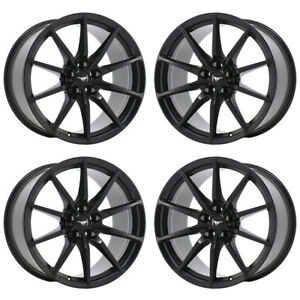 19x10 5 19x11 Mustang Gt350 Shelby Black Wheels Rims Factory Oem Set 10053 10054
