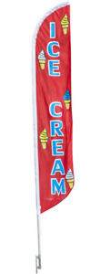 14 Fade Resistant Outdoor Flag Food Truck Concession Shop Ice Cream Banner Sign