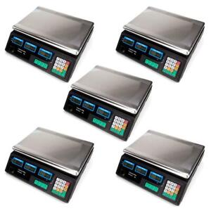 Lot5 New Digital Weight Price Scale 40kg 88lb Price Computing Food Scales