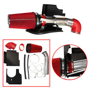 For Chevrolet Gmc V8 4 Heat Shield Cold Air Intake System Filter Red