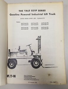 Yale Forklift G51 P Series Manual See Pictures