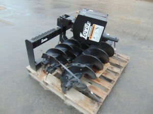 New 2018 Lowe Universal Skid Steer auger Attachment W 3 Bits 9 12 18