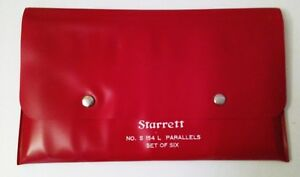 Starrett 6 Piece S 154l Parallels Set W Pouch 154a Through 154f