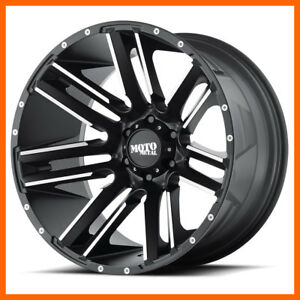 20x9 Moto Metal Mo978 5 6 8 Lug 4 New Black Wheels Rims Free Center Caps
