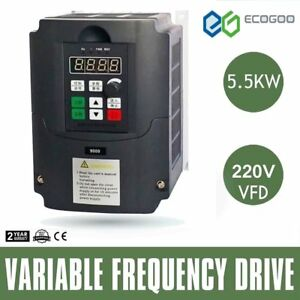 5 5kw 220v Vfd Variable Frequency Drive Inverter 20a Frequency Converter B2