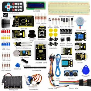 Mega 2560 Starter Learning Kits For Arduino 1602 Lcd Rfid Relay Motor Buzzer