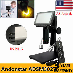 Andonstar Adsm302 Hdmi 5 Screen Digital Microscope Pcb Solder Repair Tool Usa