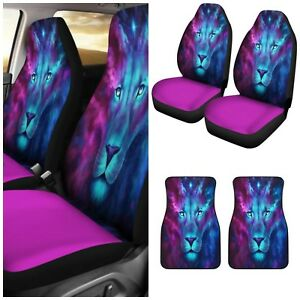 Lion Animal Print Car Seat Covers And Car Floor Mats