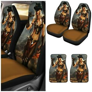 Hot Rodeo Cowgirl Car Seat Covers And Car Floor Mats